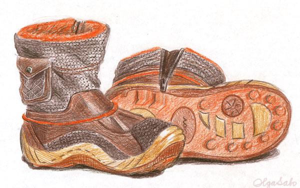 Тема: зимняя обувь