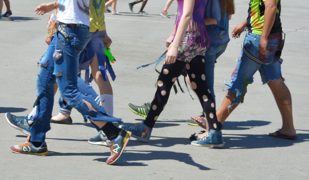 Рваный парад в Ахтубинске