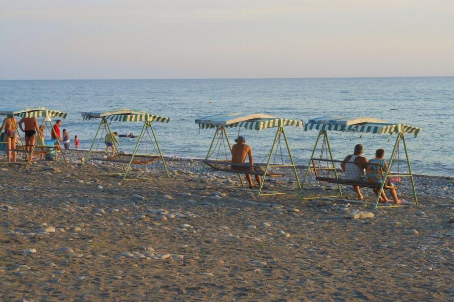 пляж в Лоо