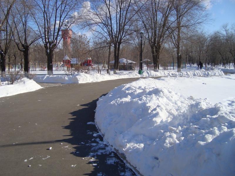 Ахтубинск зимой.