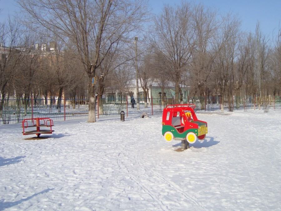 Зимой в парке.