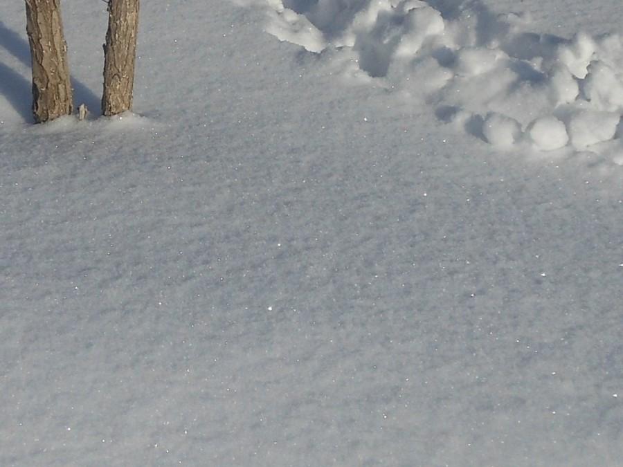 Снег искрится.