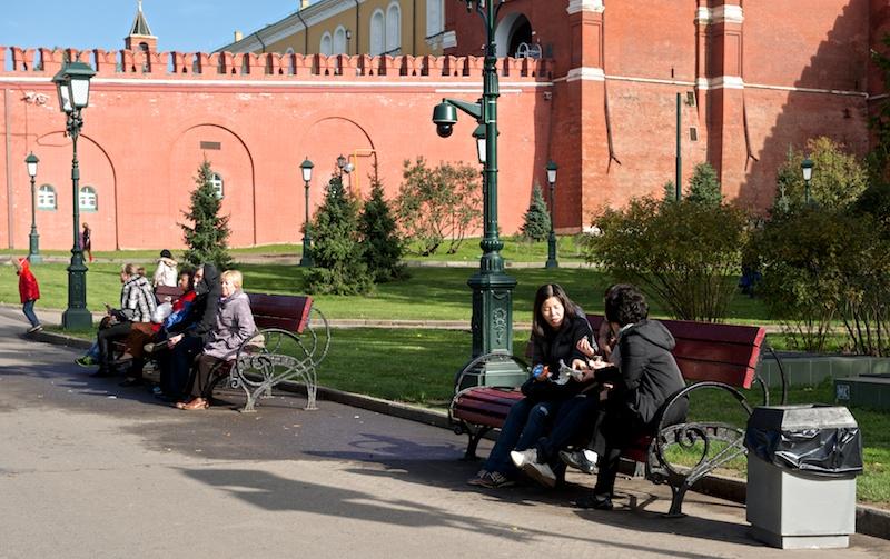 Туристы отдыхают