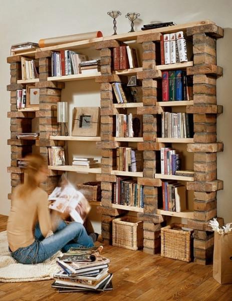 Книжная полка из дерева своими руками и