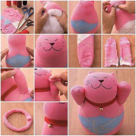Как из носка сделать мягкую игрушку своими руками