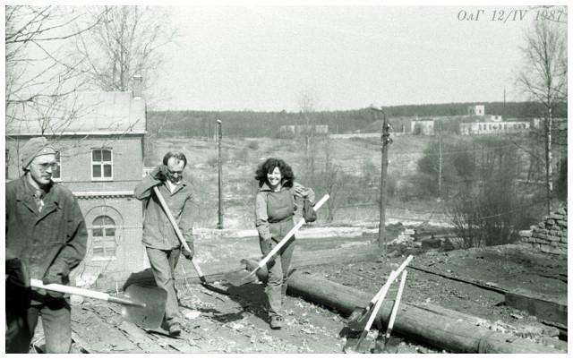 Приютино, субботник 1987 г.