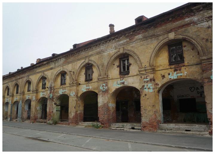 Вид со стороны Щепяного переулка в сумерках