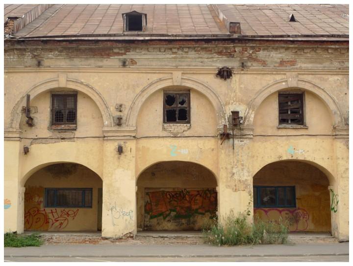 Архитектурный мотив. Никольский рынок. Вид со стороны Щепяного переулка