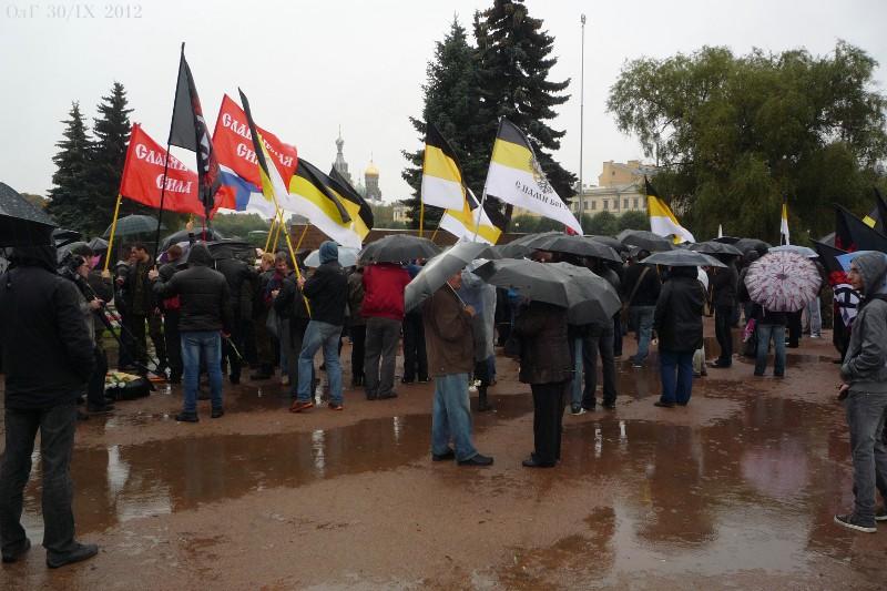 Митингъ въ Петербургѣ на Марсовомъ полѣ