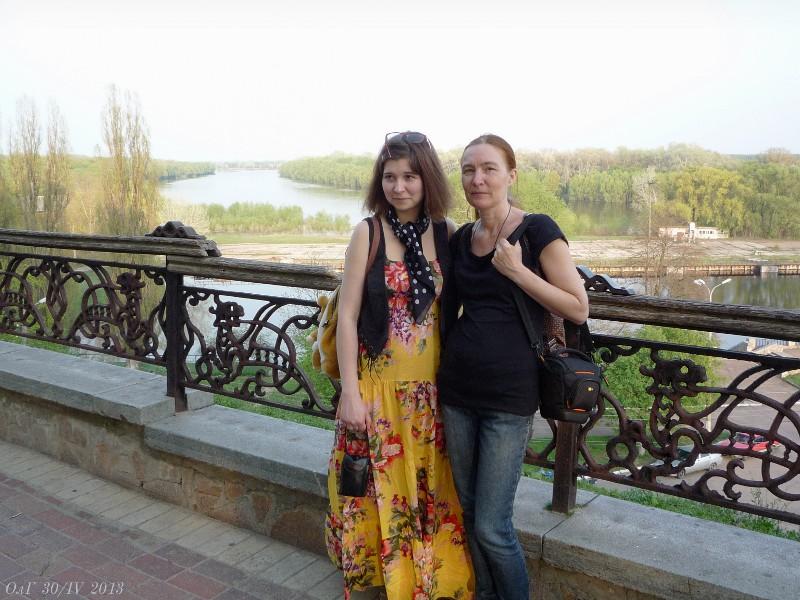 Наташа съ мамой.