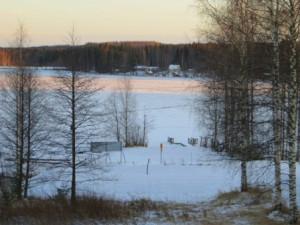 озеро замерзло за один день