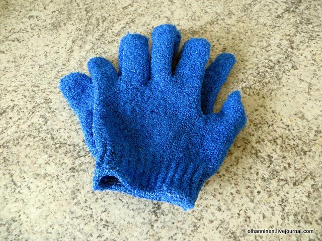 02 хорошие жесткие скрабовые перчатки