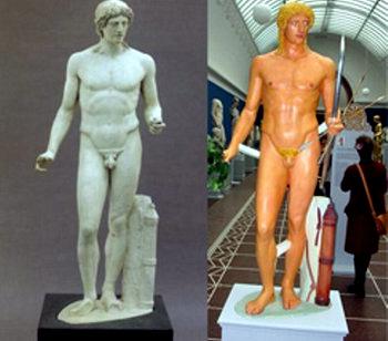 05 раскрашенная статуя