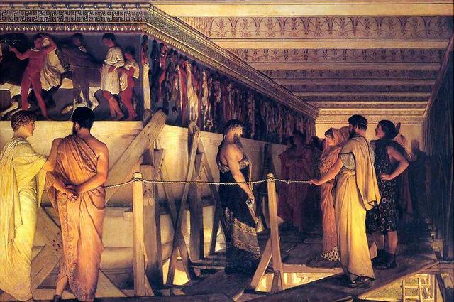 Lawrence Alma-Tadema Phidias Showing Frieze Parthenon Friends 1868 Birmingham Museum