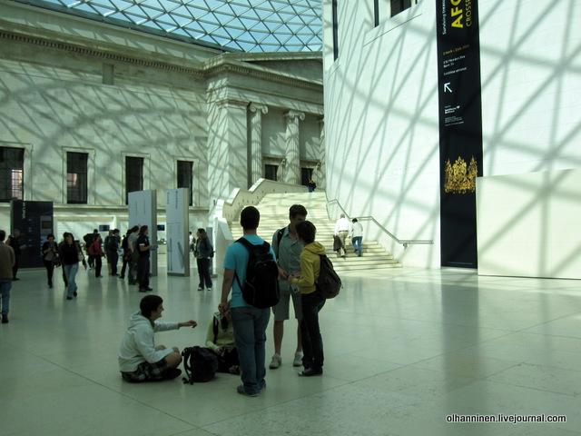 Британский музей из холла путь к залам парфенона