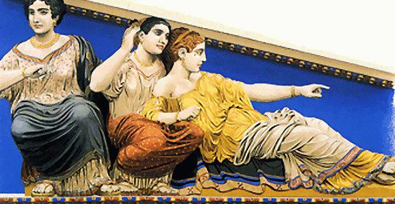 Диона, Афродита раскрашены