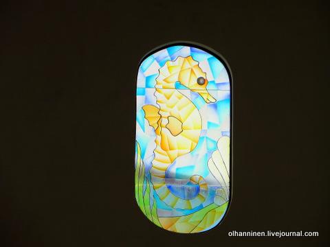 11 витраж морского конька внутри