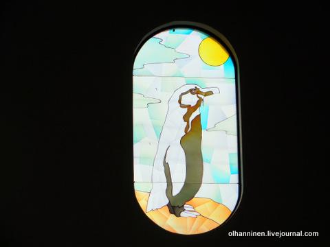 14 витраж пингвина внутри