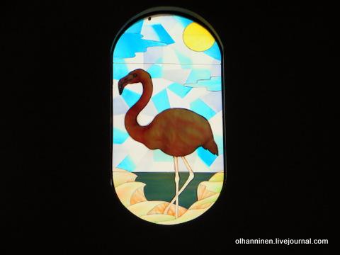 15 витраж фламинго внутри