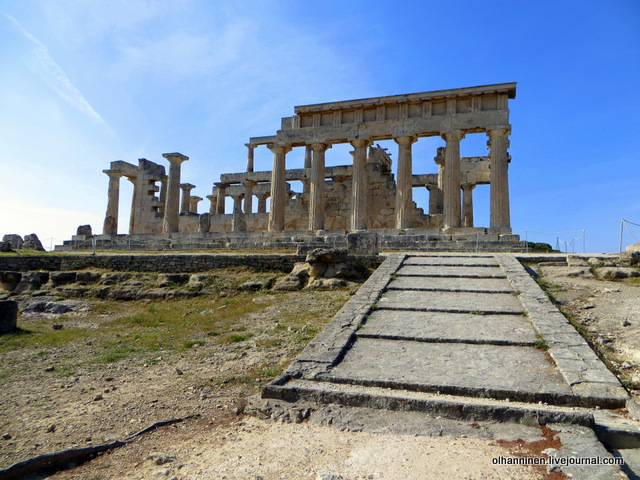 Храм Афайи на острове Эгина