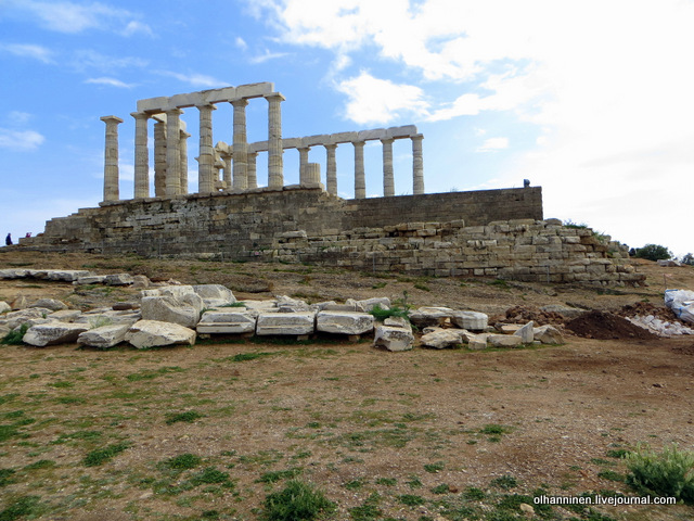 Храм Посейдона сзади