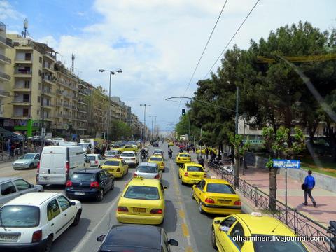 Афинские желтые такси