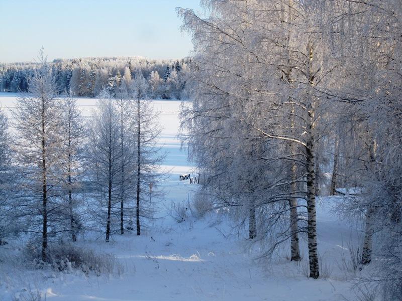 Красиво, но холодно, и лучше смотреть из окна, чем идти по этому зимнему волшебству