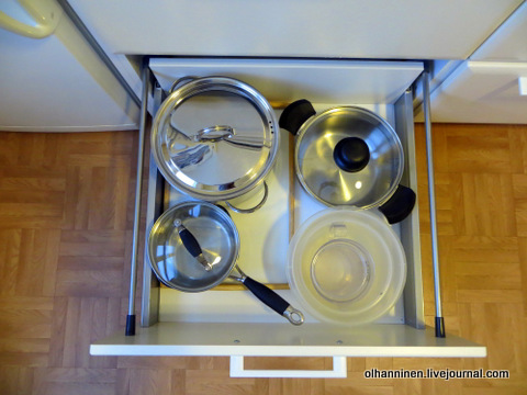 12 ставим чистые кастрюли на место