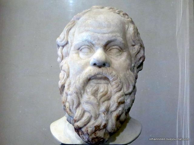 18 Сократ, философ, 469-399 гг до нэ, римская работа II в по греческому оригиналу третьей четверти IV в до н. скульптора Лисиппа, поступление 1862