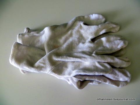 02 хлопчатобумажные перчатки