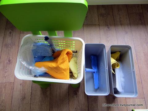 04 набор инструментов и тряпок для мытья окон и ведра