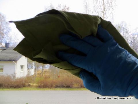 09 сухой микрофибровой тряпкой