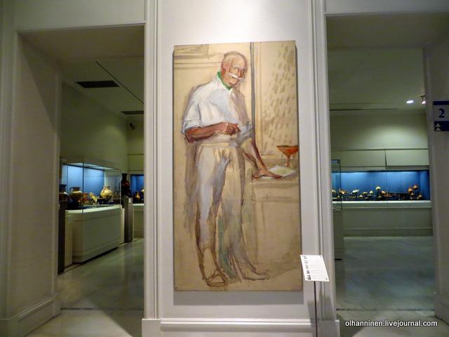 Музей Бенаки портрет коллекционера Бенакиса