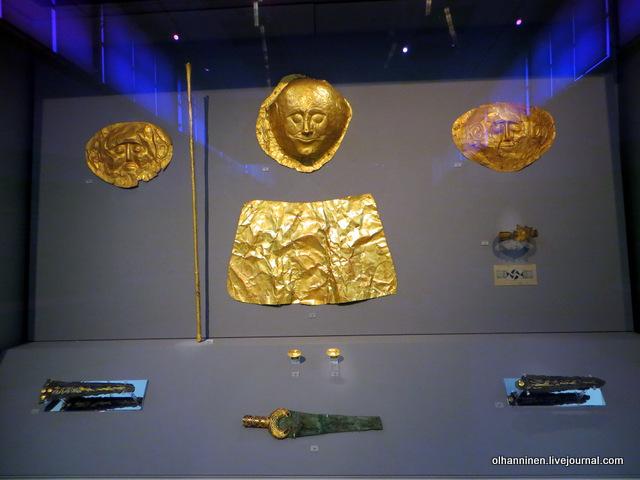 Национальный археологический музей. Золото Шлимана из Микен