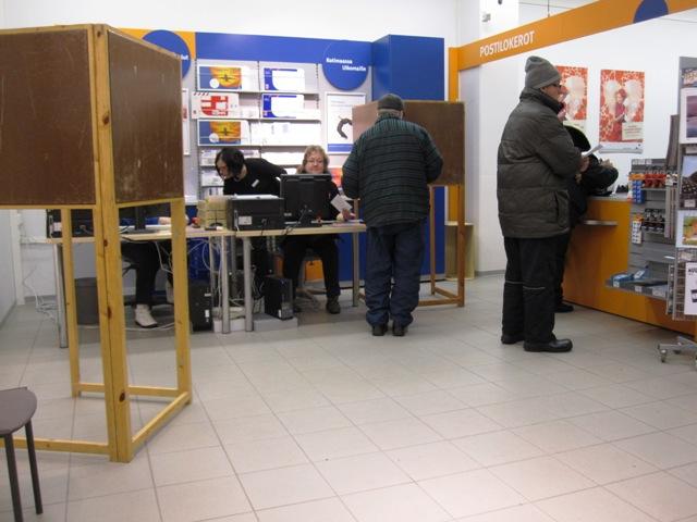 Так выглядят финские кабинки для голосования в финской провинции
