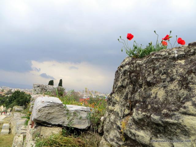06 Афины Акрополь маки на стенах