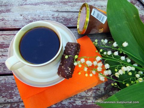 00 ландыши и кофе с мороженым и шоколадкой