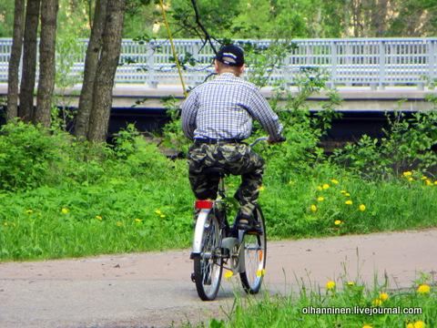 03 ландыши велосипедист везет