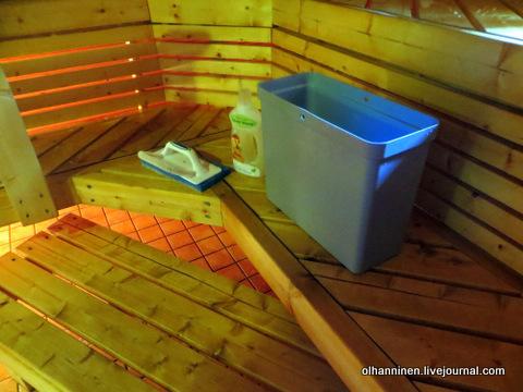 01 щетка ручная и моющее средство для сауны