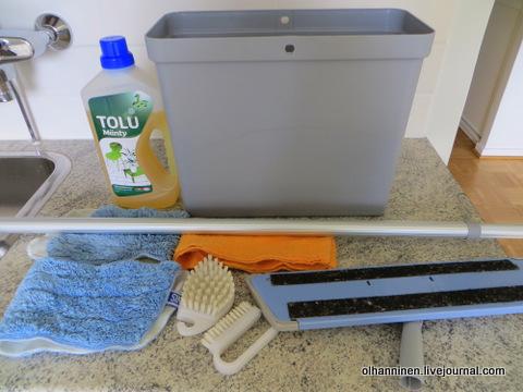 06 для мытья пола нам понадобятся эти инструменты