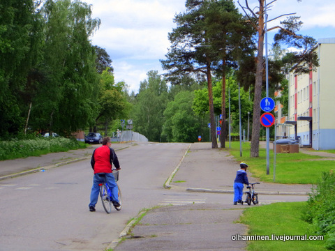 через дорогу переводим велосипед