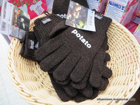 02 перчатки коричневые для картошки в магазине