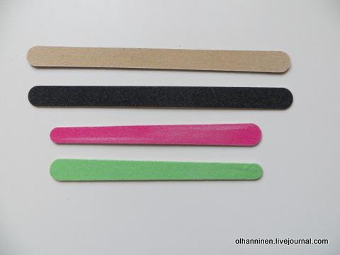 04 пилочки тонкие для придания формы ногтям
