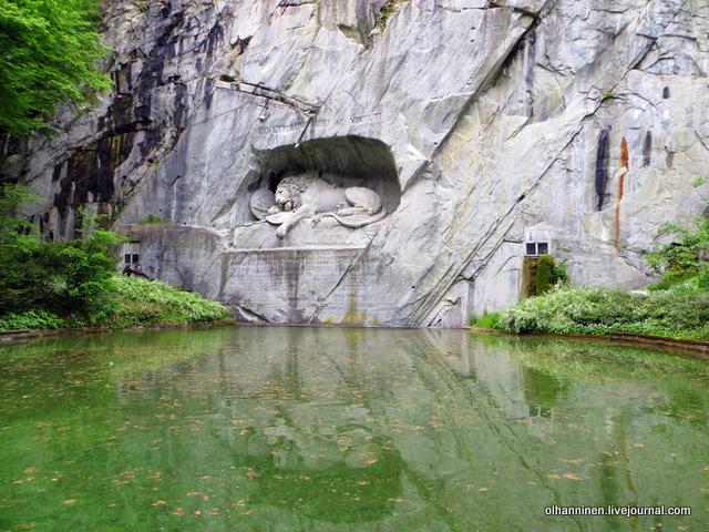 Скульптура Умирающий лев в Люцерне