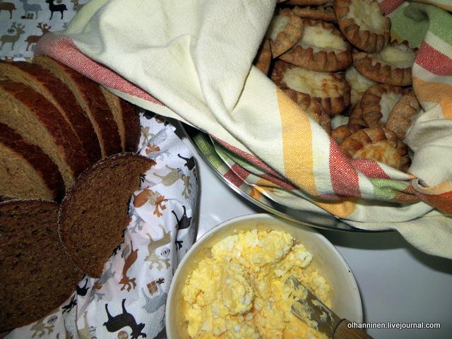 leipä карельские пироги с яичным маслом