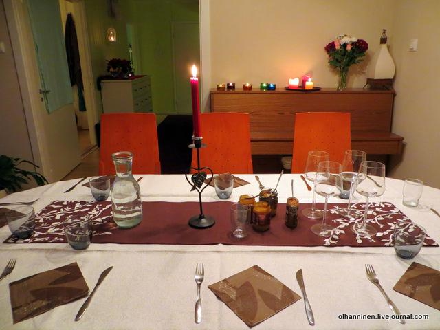рождественский стол обеденный
