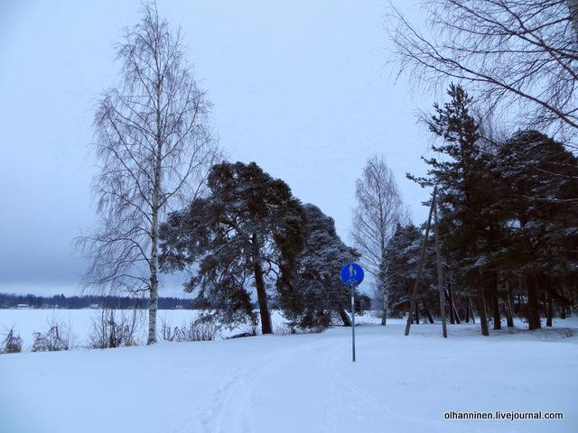 04 пешеходная дорожка засыпана снегом