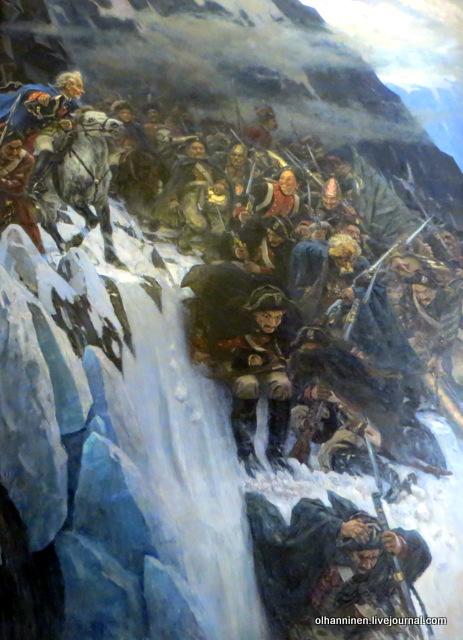 В.Суриков. Переход Суворова через Альпы в 1799 году