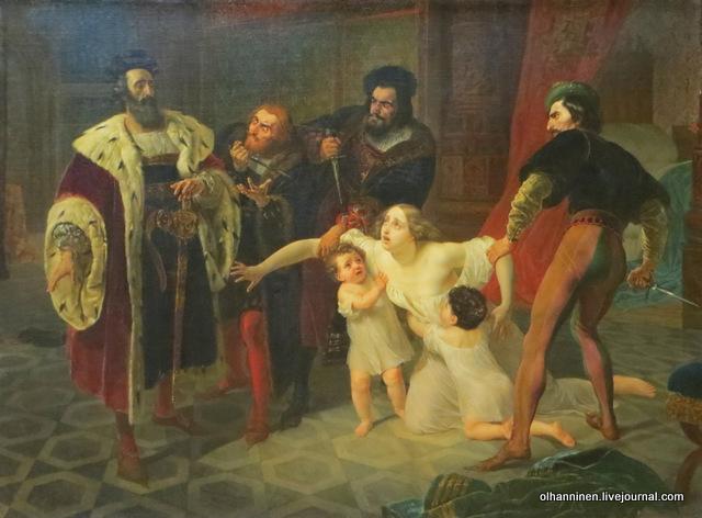 Карл  Брюллов Смерть Инессы де Кастро