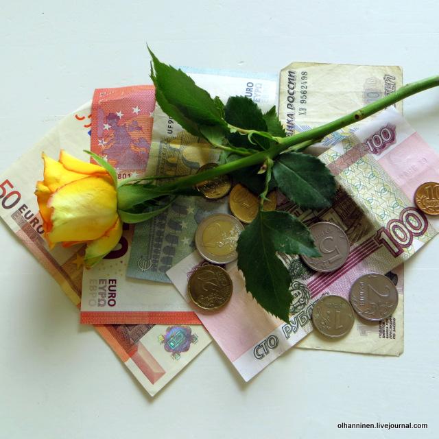 цветы, деньги
